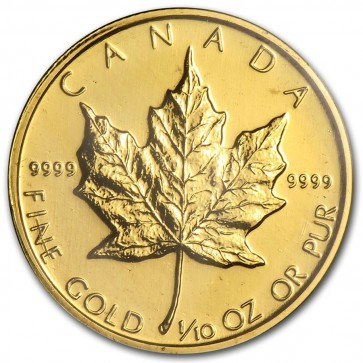 1/10 oz Canadian Gold Maple Leaf -5 Coin Minimum