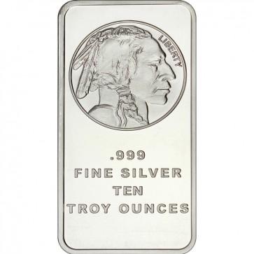 10 oz Silver Buffalo Replica Bar