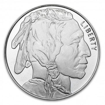 1 oz Silver Buffalo Round - STM Silver