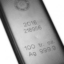 100 oz Silver Bar RCM