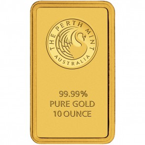 A 10 ounce Kangaroo Minted Gold Bar is 58 mm by 37 mm.