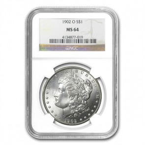 A $1 Morgan Silver Dollar MS-64