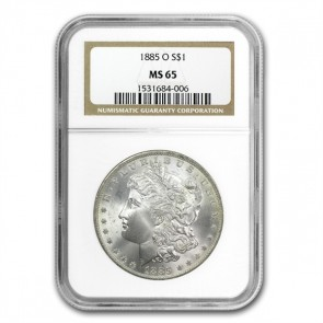 A $1 Morgan Silver Dollar MS-65
