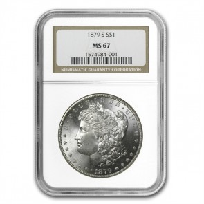 A $1 Morgan Silver Dollar MS-67