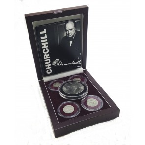 Winston Churchill: Five Coin Collection (Wooden Box)