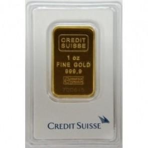 1 oz Gold Bar Credit Suisse