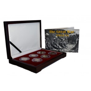 The Great War Box: 6 Silver Coins from the First World War (WWI)