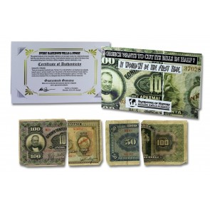 Two Greek Drachmai Half Notes Banknote Folder
