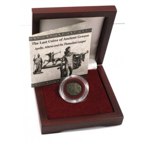 The Last Coins Of Ancient Greece Box:The Thessalian League with Coin of Apollo/Athena