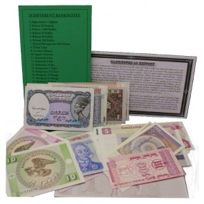 25 different banknotes (U)