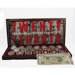Twenty Tyrants: The Great Dictators Collection, 20 Coin Box and 8 Banknote Supplement