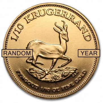 1/10 oz South African Gold Krugerrand - Assorted Dates
