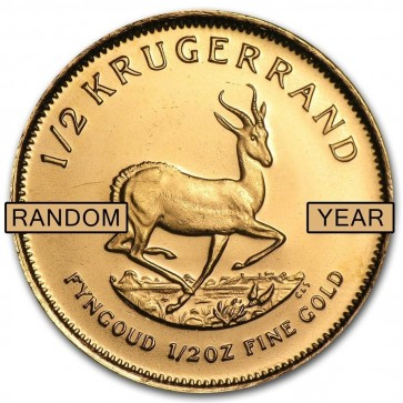 1/2 oz South African Gold Krugerrand - Assorted Dates