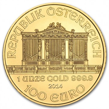 A 1 oz. Austrian Gold Philharmonic is 37.00 mm in diameter and 2.00 mm thick.