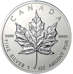 1 oz Canadian Silver Maple Leaf- Tube of 20 Rounds