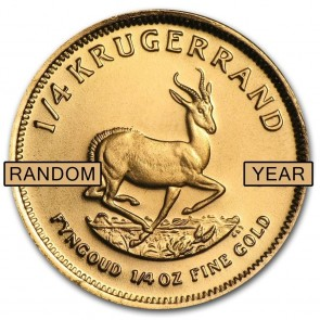 1/4 oz South African Gold Krugerrand - Assorted Dates