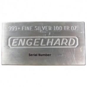 Engelhard 100 OZ Silver Bar .999 Fine - Call for pricing!