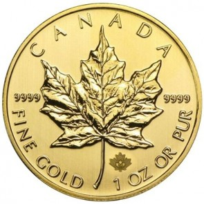 1 oz Canadian Gold Maple Leaf - Assorted Dates