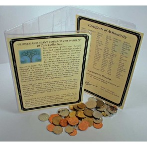 Flowers And Plant Coins: A Set of 40 From around the World