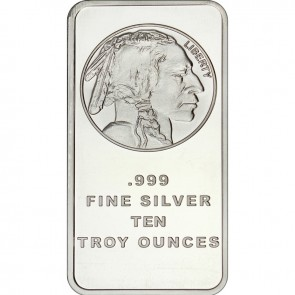 10 oz Silver Buffalo Replica Bar