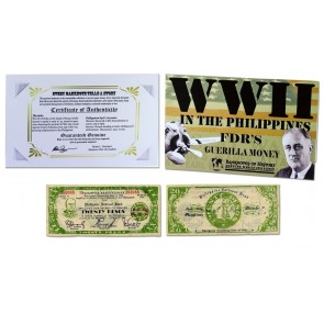 FDR's Philippine 20 Pesos Single Banknote Folder