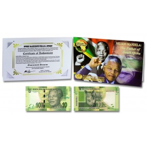 "Mandela ""Father of Africa"" 10 Rand Single Banknote Folder"