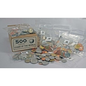 Set of 500 different world coins (U)