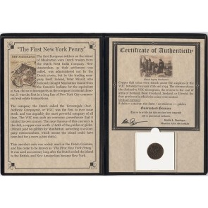 First New York Penny : VOC Copper Duits Album