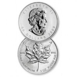 Canadian Platinum Maple Leaf 1 Troy oz - Call for pricing!