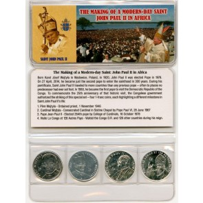 Saint John Paul II Four Coins of the Congo Mini