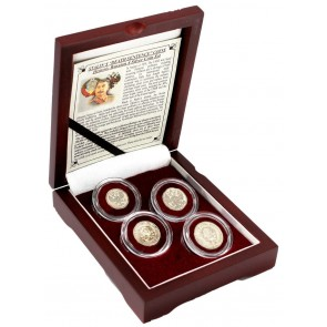 "Stalin's ""Death Sentence"" Coins: Box of 4 Russian Silver Coins"