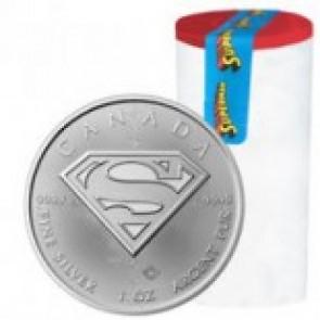 RCM Superman Coin -  1 oz Silver .9999 (25 Round Tube)