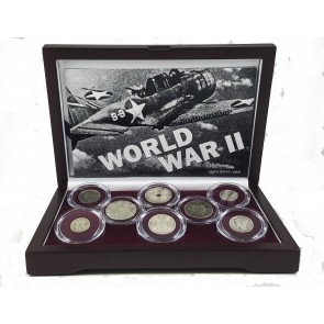 World War II: A Set of Eight Silver Coins